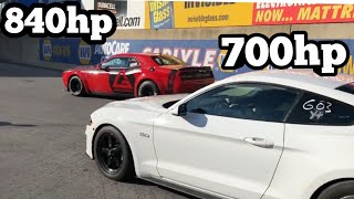 SUPERCHARGED 2018 MUSTANG GT RACES 9 SEC DODGE DEMON at OCT 20th YOUTUBE CALLOUT
