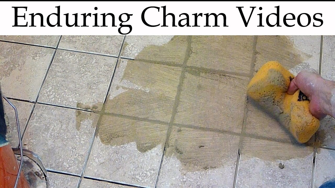 How to grout tile correct technique makes it easy youtube dailygadgetfo Image collections