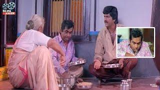 Brahmanandam Funny Eating Comedy Scene | Telugu Comedy Scenes | Silver Screen Movies