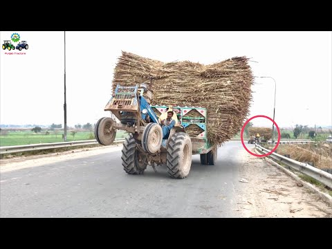 Tractor Stunt | Ford 4600 Full Wheeling Carrying Trolley on the Bridge | Punjab Tractors