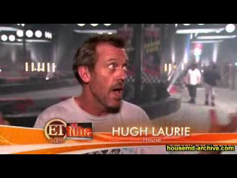 House MD -Hugh Laurie interview on set - Go Karts