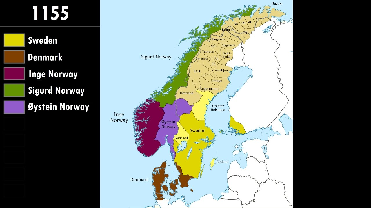 History of Scandinavia: Every Year - YouTube