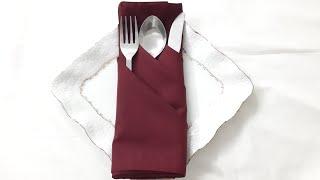 DIY - Napkin Folding Idea   Easy cloth napkin folding  idea   How to fold napkin  Fancy pouch