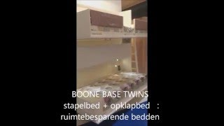 BOONE BASE TWINS stapelbed   opklapbed  ruimtebesparende bedden