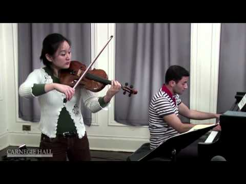 Violin Intonation: Christian Tetzlaff Workshop Coaching