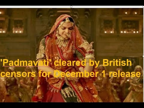 'Padmavati' cleared by British censors for December 1 release