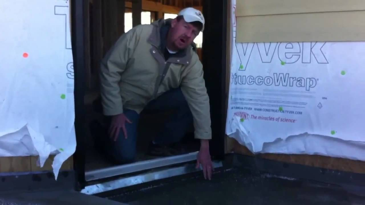 Integrating the door pan into the deck waterproofing & Integrating the door pan into the deck waterproofing - YouTube Pezcame.Com