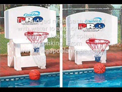 Cool Jam Adjule Basketball Hoop Inground Swimming Pool