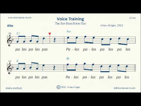 Voice Training - ( Alto ) - The Sun Rises Every Day - YouTube