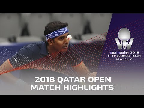 2018 Qatar Open Highlights I Koki Niwa vs Achanta Sharath Kamal (R32)