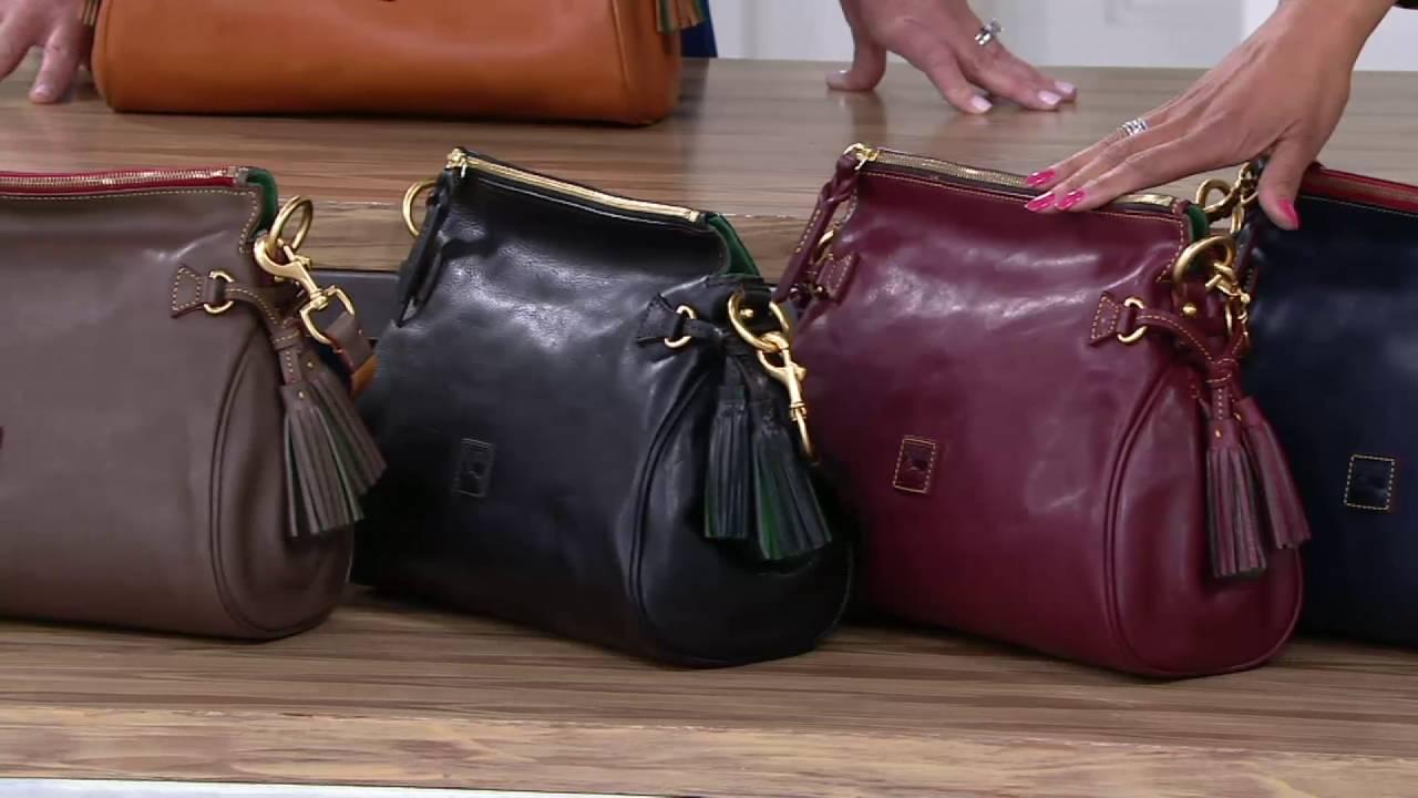 9054ecc5f7a Dooney   Bourke Florentine Leather Medium Zip Crossbody on QVC - YouTube