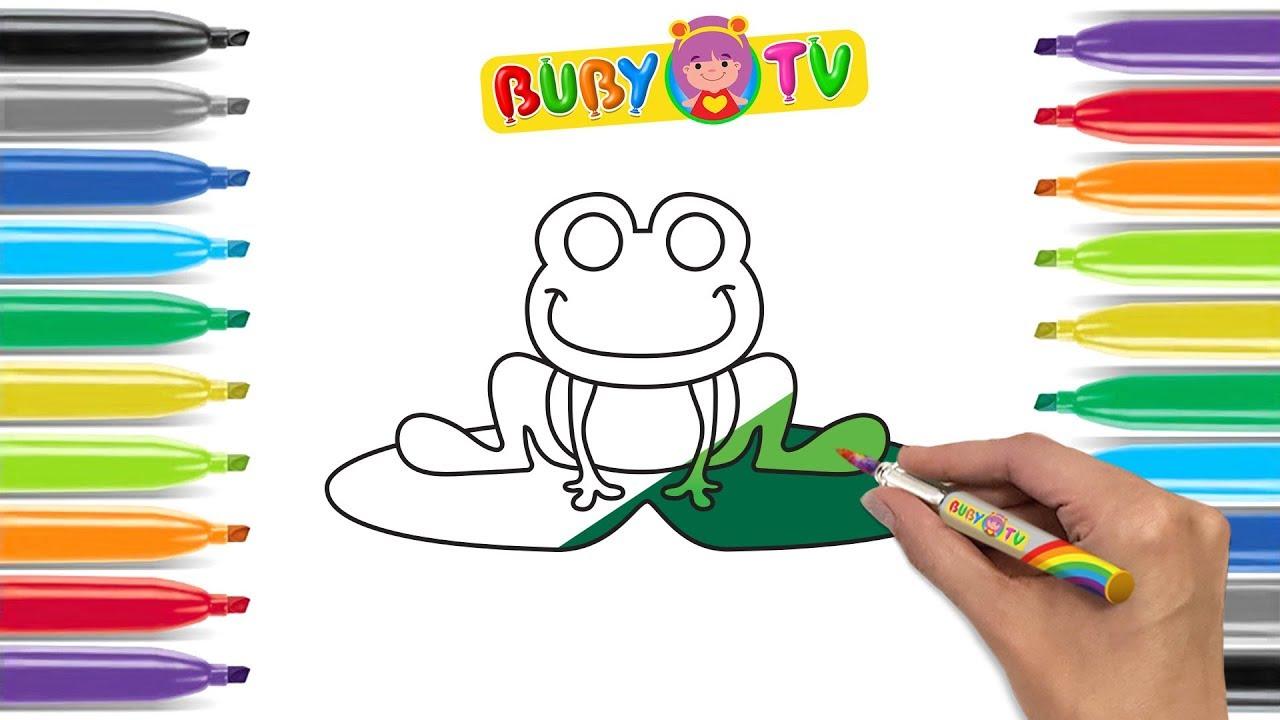Impara a disegnare una rana disegni facili di animali for Disegni di natale facili per bambini