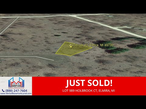 Lot 989 Holbrook Ct, Elmira, MI - 0.54 Acres Residential Vacant Land For Sale Owner Financing