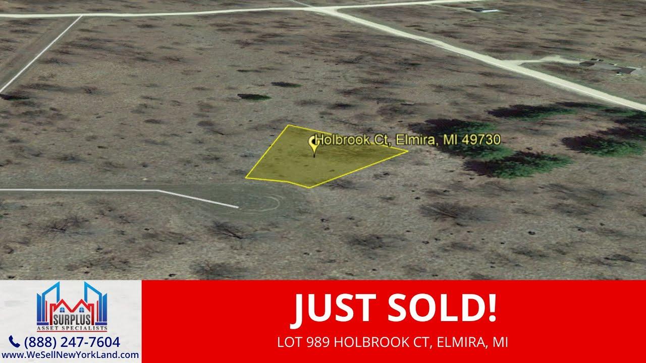 Just Sold By www.WeSellNewYorkLand.com - Lot 989 Holbrook Ct, Elmira, MI - Wholesale Land For Sale