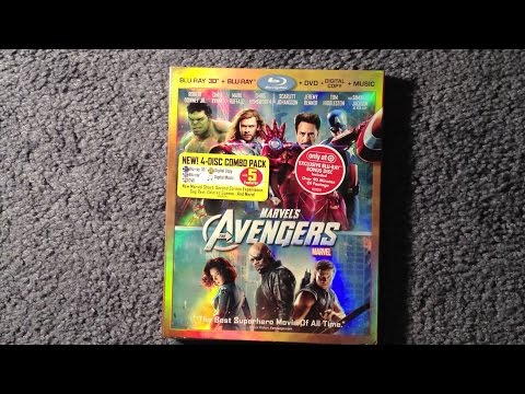 Unboxing The Avengers Blu-Ray 3D/Blu-Ray/DVD/Digital Copy/Music