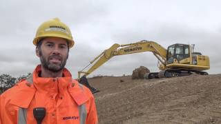 Video still for Introducing the Komatsu PC210LCi-10 Intelligent Machine Control Excavator