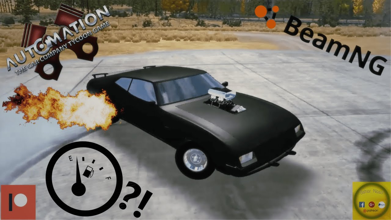Supercharger mod in Automation game + Mad Max interceptor(ish) in  BeamNG Drive