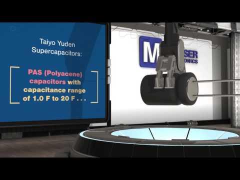 TAIYO YUDEN Polyacene and Lithium-Ion Supercapacitors | New Product Brief