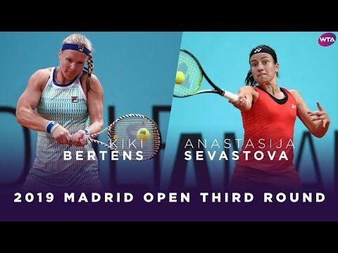 Kiki Bertens vs. Anastasija Sevastova  | 2019 Madrid Open Third Round | WTA Highlights