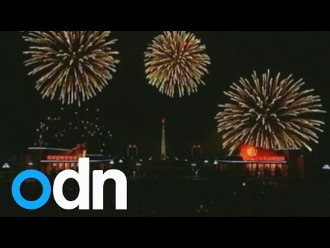 North Korea celetes New Year with firework display