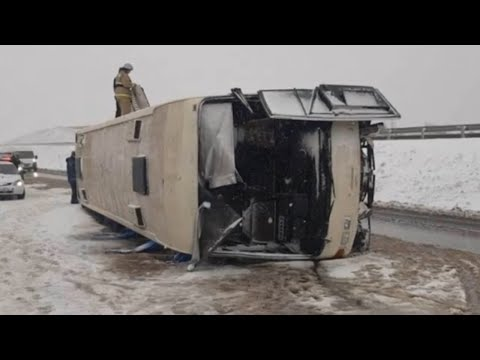 В ДТП с автобусом в Воронежской области пострадали 14 человек