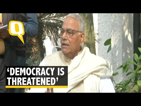 Democracy Is Threatened: Yashwant Sinha on SC's Dramatic Turn  | The Quint