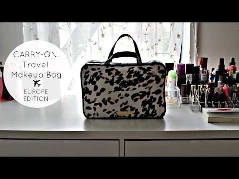 What's in My Carry-on Travel Makeup Bag