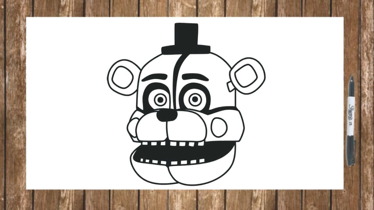 How to draw fnaf freddy steps - How To Draw Fnaf Sister Location Characters Funtime Freddy Face Drawing