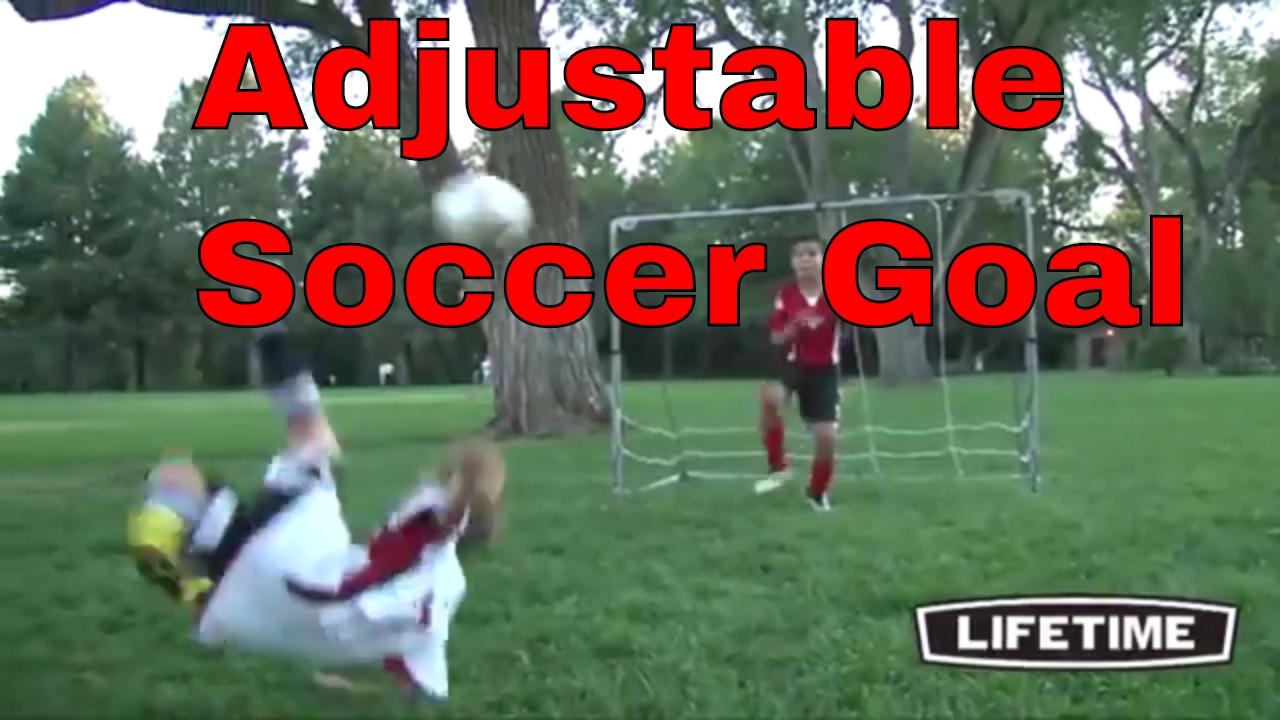 adjustable soccer goal lifetime 90046 7 ft x 5 ft maximum size