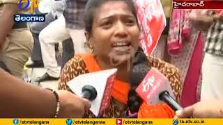 TRT Candidates Protest Held | at Pragathi Bhavan For Jobs