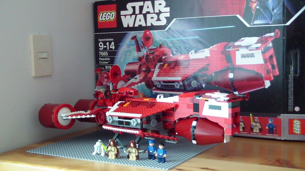 lego star wars republic cruiser 7665 review youtube
