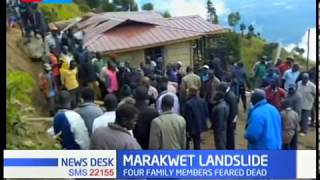 Four family members feared dead in Marakwet East following landslide cased by heavy downpour