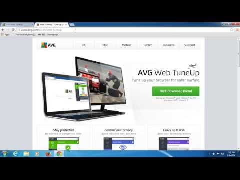 AVG Web TuneUp - Browser Security Extension Walkthrough