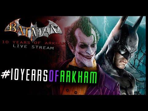 Batman Arkham Asylum - 10 YEARS OF ARKHAM LIVE! Full Game (Archived Stream)