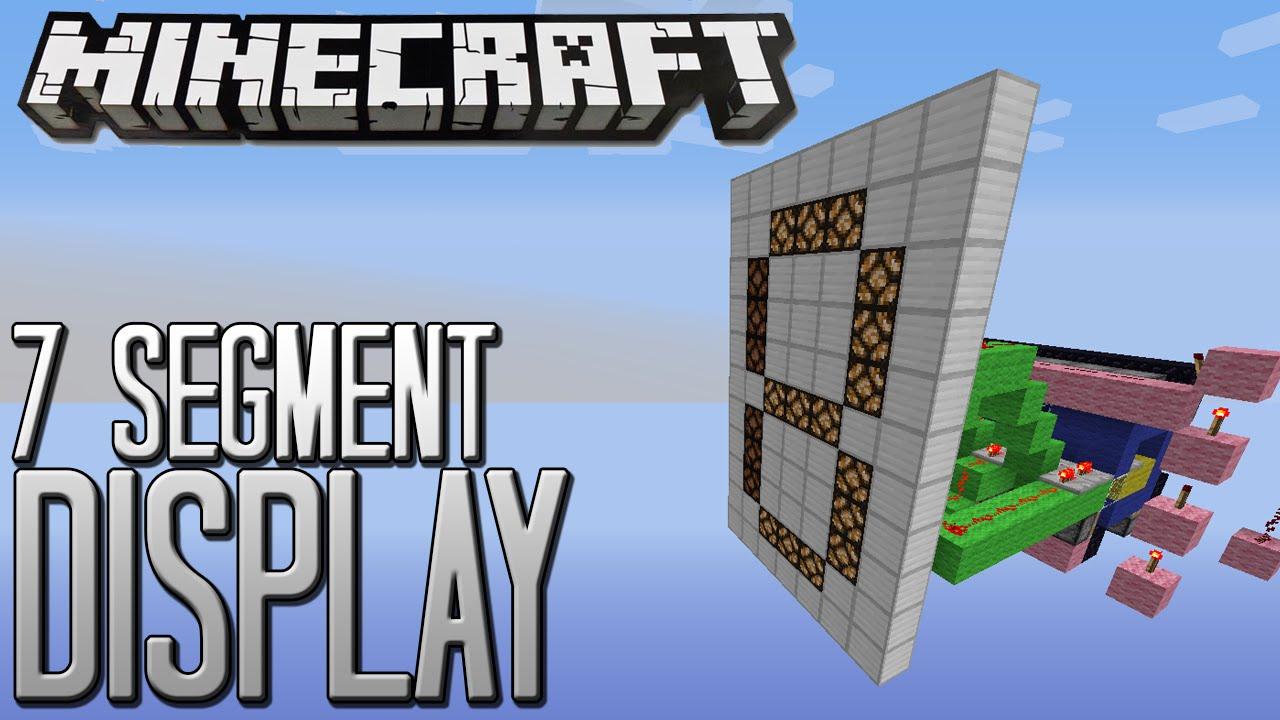 Minecraft Redstone Tutorial 7 Segment Display Youtube