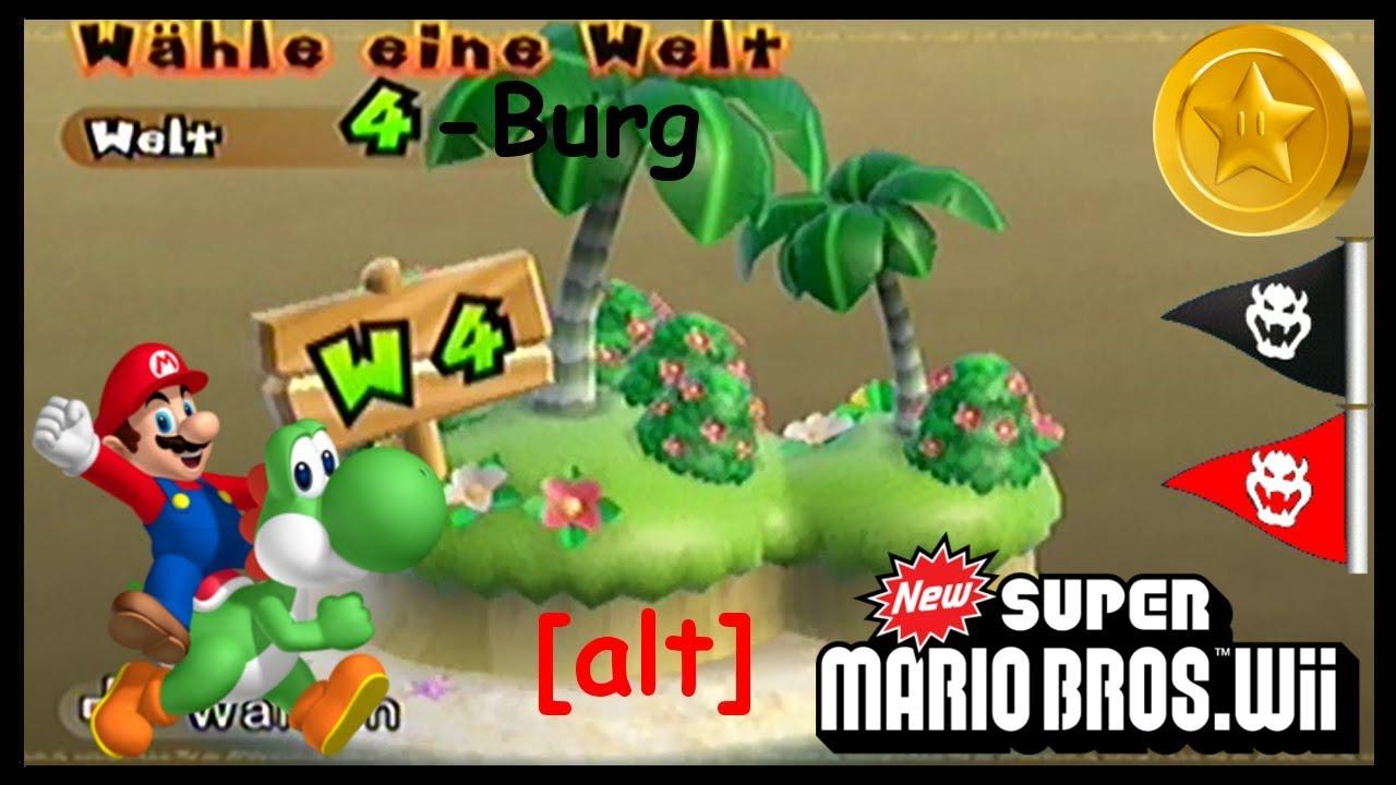 New Super Mario Bros Wii 28 Welt 4 Burg Sternenmünzen Geheimweg
