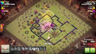 THE successful Valkaria attack of the clash of clans.Most of the power full trops it is.