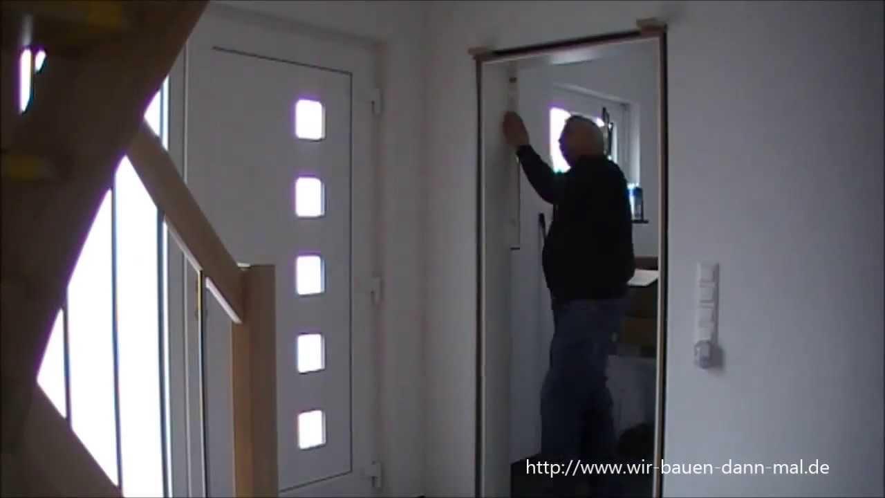 Türzarge setzen - Eigenleistung beim Hausbau - YouTube