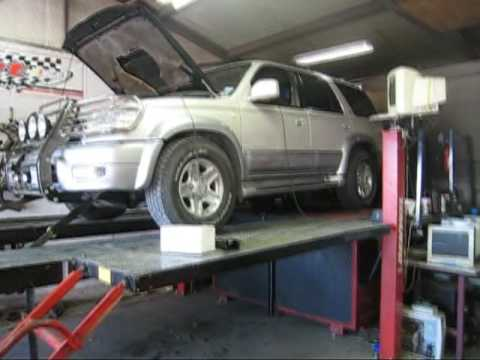 Texas_Ace 2000 Toyota 4runner Dyno Run with TRD Supercharger, Headers & URD  7th injector kit