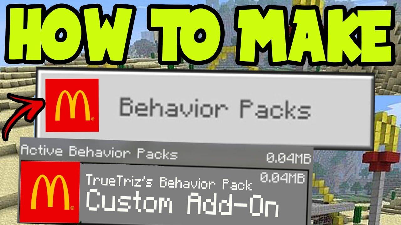 minecraft pe behavior packs