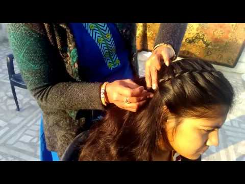 Thumbnail: Simple Hairstyle For Party | Medium Hair to Long Hairs - Waterfall Hairstyle 2017
