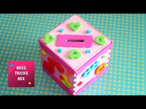Easy Foam Paper Money Saving Box | Paper Crafts.