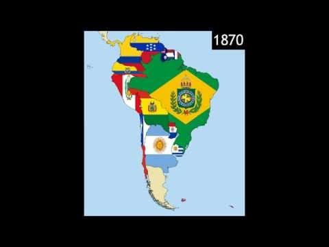 South America: Timeline of National Flags - Part 2