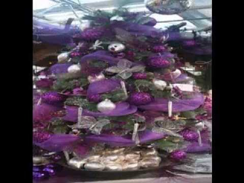 purple christmas tree decorating ideas youtube