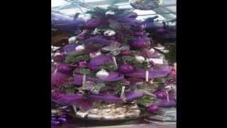 Purple christmas tree decorating ideas.