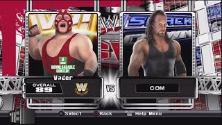 WWE Smackdown vs Raw 2009 Character Select Screen Including All DLC Packs Roster