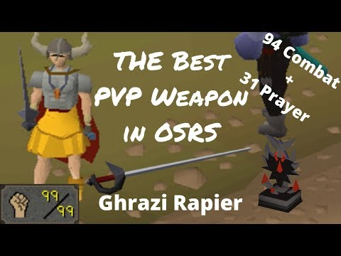 Maxed 31 Pray Zerk Ghrazi Rapier Pking - The Best PVP Weapon in OSRS