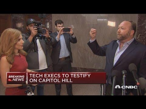 Infowars' Alex Jones speaks ahead of tech exec hearings