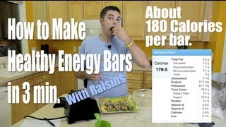How To Make Healthy Energy Bars With This Easy 2 Step 3min Energy Bar Recipe Adding Raisins
