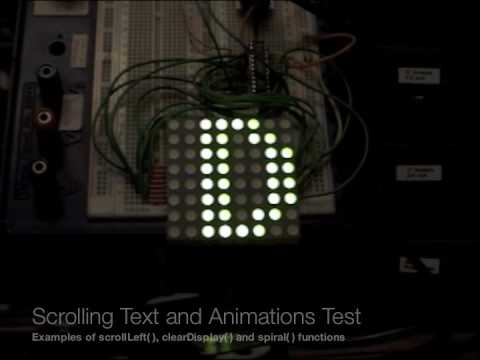 Arduino Controlled LED Dot Matrix Message Board using an AS1107 LED Driver IC